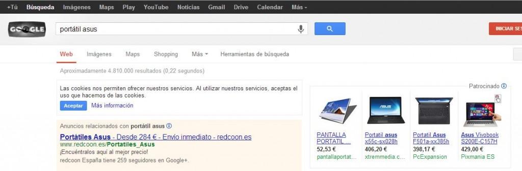 captura de google shopping