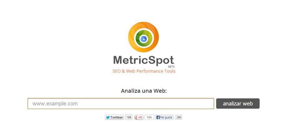 herramienta SEO metricspot