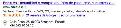 Rich Snippets Negocio Local